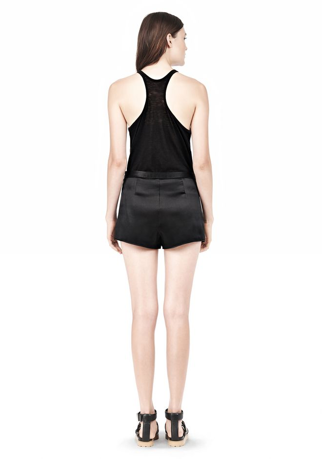 T by ALEXANDER WANG SILK SATIN SHORTS SHORTS Adult 12_n_r