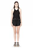 T by ALEXANDER WANG SILK SATIN SHORTS SHORTS Adult 8_n_f