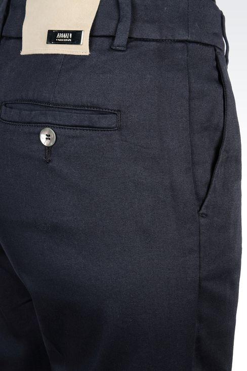 CAPRI PANTS IN STRETCH COTTON: Straight leg pants Women by Armani - 4