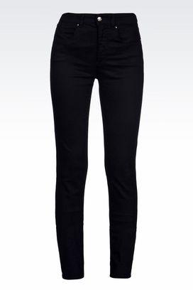 Armani Jeans Women high waist slim fit 5 pocket trousers
