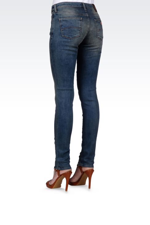 SKINNY JEANS IN STRETCH DENIM: Jeans Women by Armani - 3