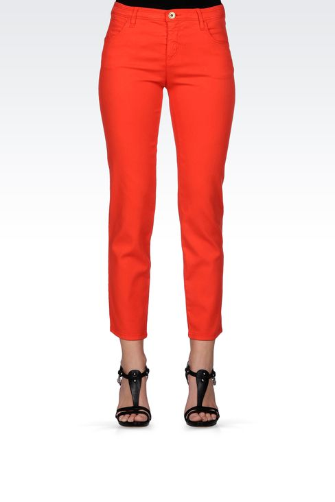 REGULAR FIT OLD EFFECT JEGGING: Jeans Women by Armani - 2