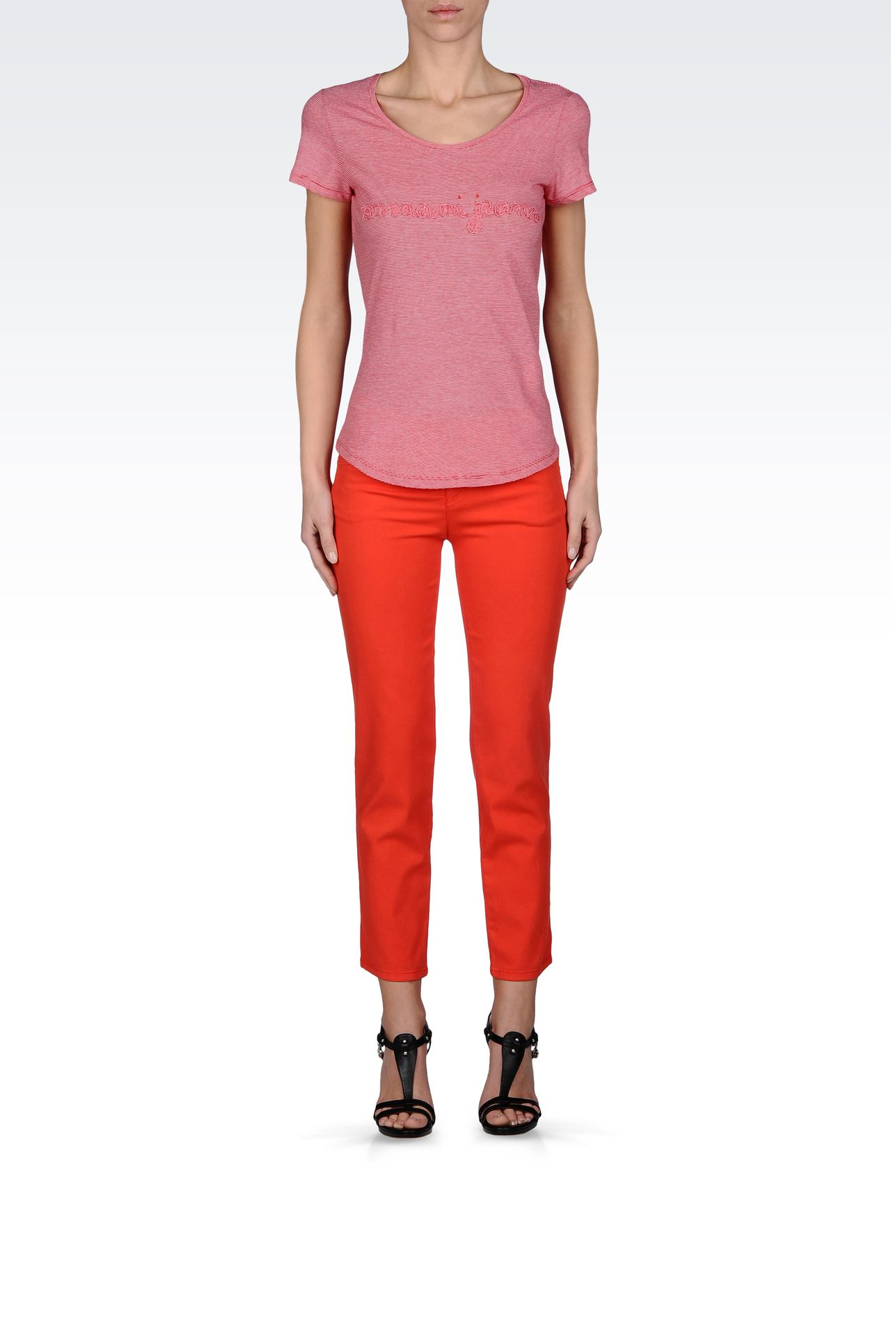 REGULAR FIT OLD EFFECT JEGGING: Jeans Women by Armani - 0