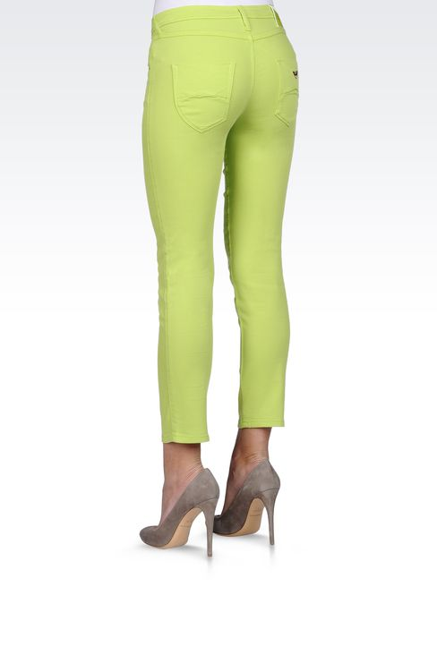 REGULAR FIT OLD EFFECT JEGGING: Jeans Women by Armani - 3