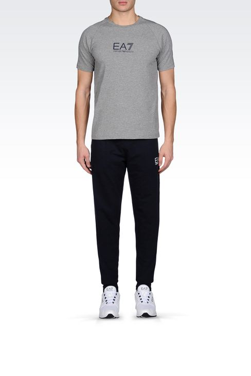 REGULAR FIT FLEECE BOTTOMS: Pants Men by Armani - 1