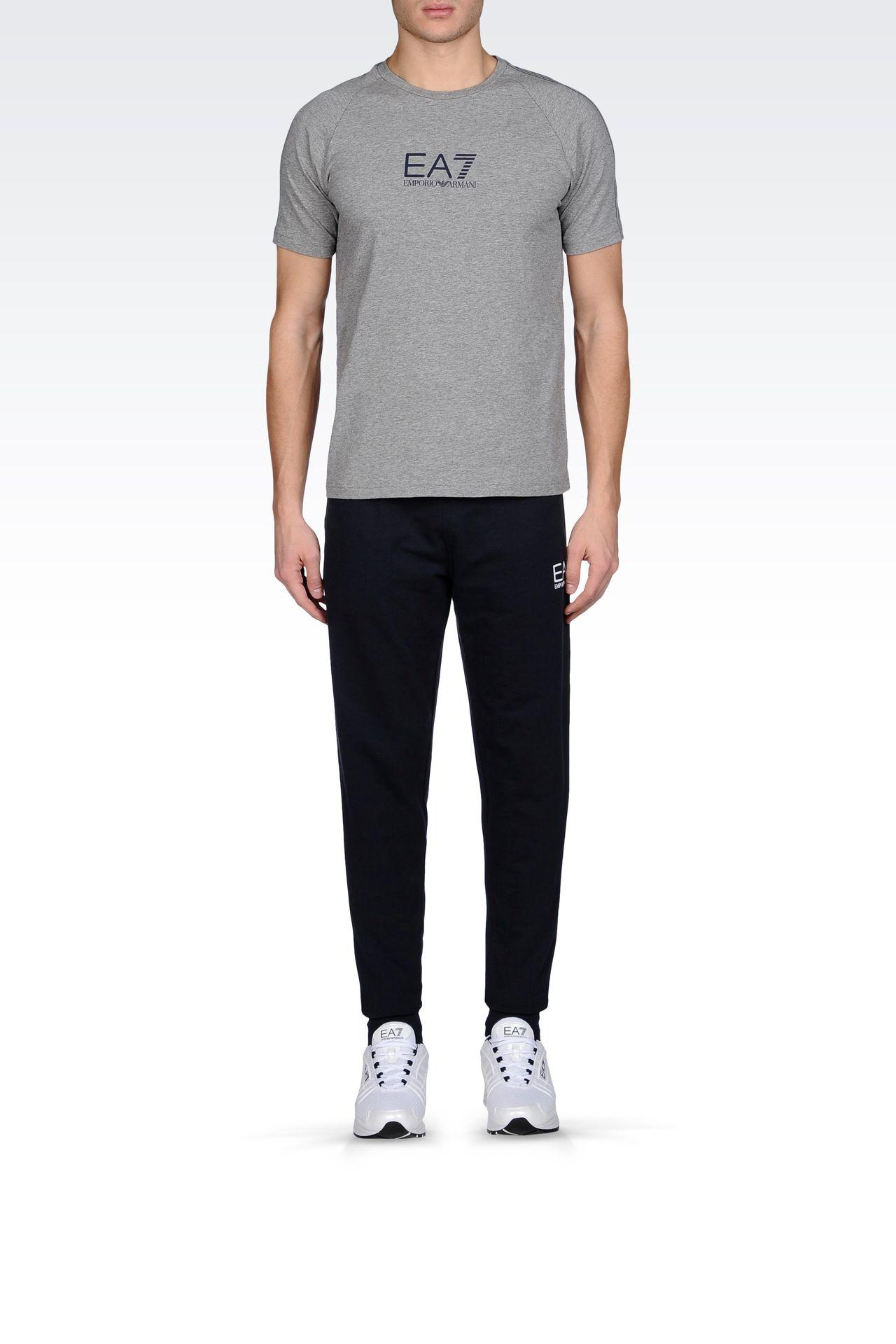 REGULAR FIT FLEECE BOTTOMS: Pants Men by Armani - 0