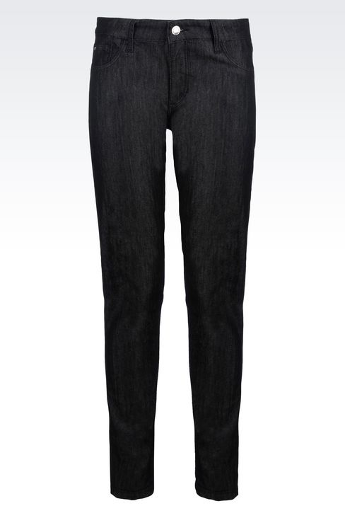 SUPER SKINNY BLACK WASH JEANS : Jeans Women by Armani - 1