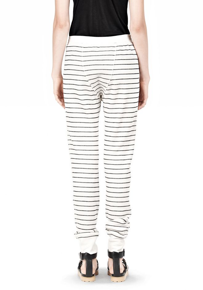 T by ALEXANDER WANG FRENCH RIB SWEATPANTS PANTS Adult 12_n_d