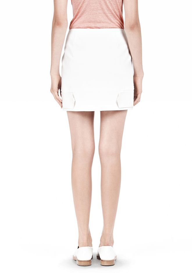 T by ALEXANDER WANG DOUBLE FACE STRETCH COTTON MINI SKIRT Skirt Adult 12_n_d