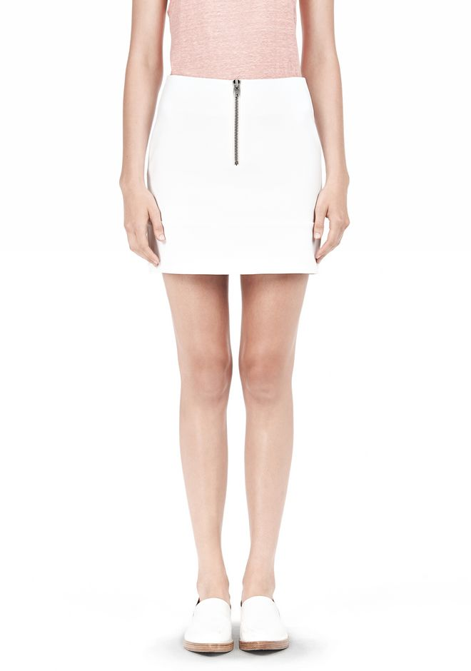 T by ALEXANDER WANG DOUBLE FACE STRETCH COTTON MINI SKIRT Skirt Adult 12_n_e