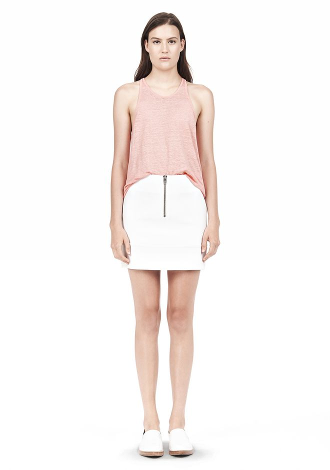 T by ALEXANDER WANG DOUBLE FACE STRETCH COTTON MINI SKIRT Skirt Adult 12_n_f