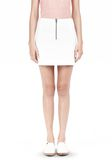 T by ALEXANDER WANG DOUBLE FACE STRETCH COTTON MINI SKIRT Skirt Adult 8_n_e