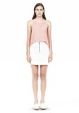 T by ALEXANDER WANG DOUBLE FACE STRETCH COTTON MINI SKIRT Skirt Adult 8_n_f