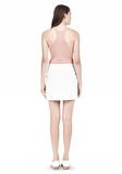 T by ALEXANDER WANG DOUBLE FACE STRETCH COTTON MINI SKIRT Skirt Adult 8_n_r