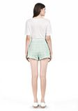 T by ALEXANDER WANG GRID JACQUARD BONDED NEOPRENE CROPPED SHORTS SHORTS Adult 8_n_r