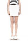 T by ALEXANDER WANG LIGHTWEIGHT A-LINE LEATHER SKIRT Skirt Adult 8_n_e