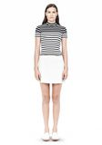 T by ALEXANDER WANG LIGHTWEIGHT A-LINE LEATHER SKIRT Skirt Adult 8_n_f