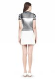 T by ALEXANDER WANG LIGHTWEIGHT A-LINE LEATHER SKIRT Skirt Adult 8_n_r
