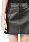 T by ALEXANDER WANG LIGHTWEIGHT A-LINE LEATHER SKIRT Skirt Adult 8_n_a