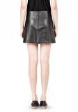 T by ALEXANDER WANG LIGHTWEIGHT A-LINE LEATHER SKIRT Skirt Adult 8_n_d