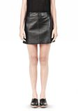 T by ALEXANDER WANG LIGHTWEIGHT A-LINE LEATHER SKIRT Skirt Adult 8_n_e