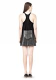 T by ALEXANDER WANG LIGHTWEIGHT A-LINE LEATHER SKIRT Skirt Adult 8_n_r