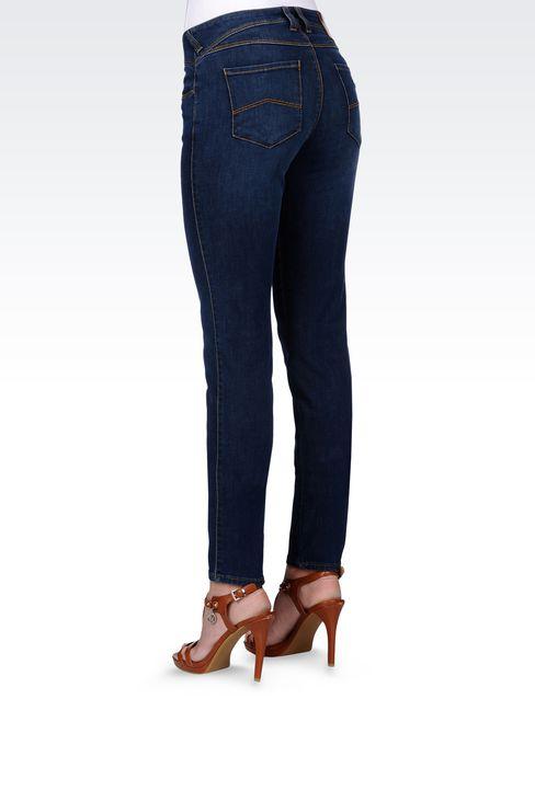 SKINNY JEANS IN STRETCH DENIM: Jeans Women by Armani - 3