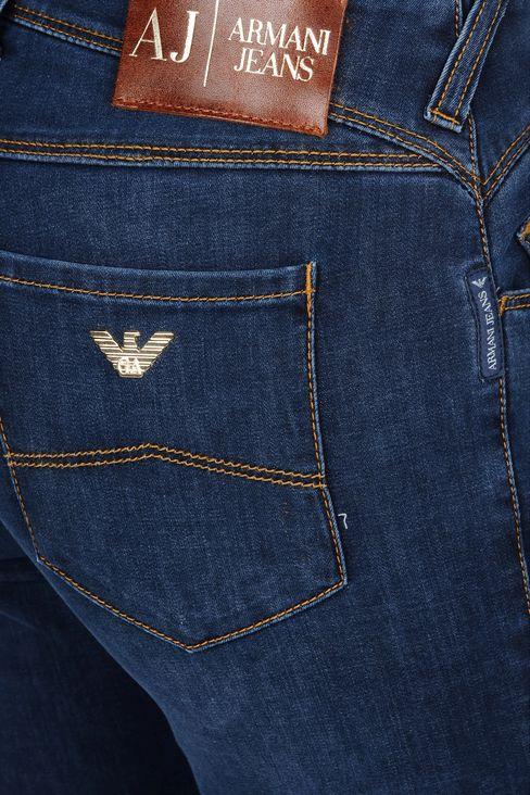 SKINNY JEANS IN STRETCH DENIM: Jeans Women by Armani - 4