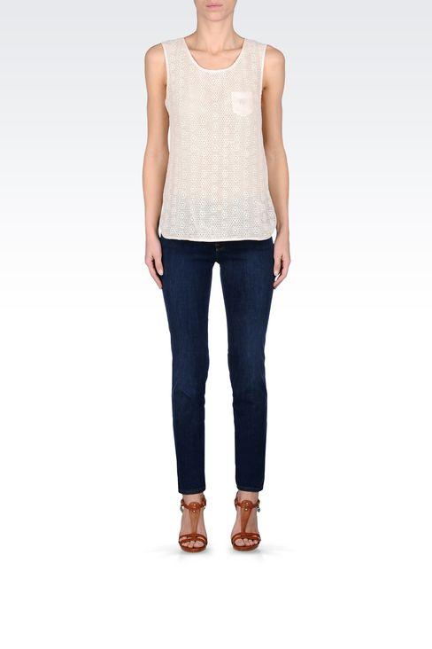 SKINNY JEANS IN STRETCH DENIM: Jeans Women by Armani - 1