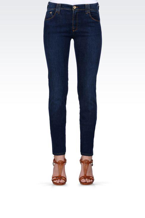 SKINNY JEANS IN STRETCH DENIM: Jeans Women by Armani - 2