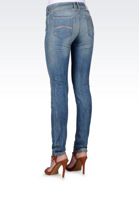 VINTAGE EFFECT SKINNY JEANS : Jeans Women by Armani - 3