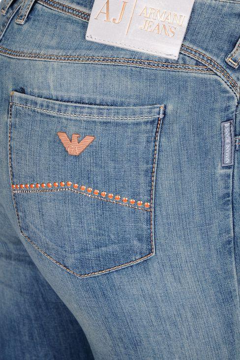 VINTAGE EFFECT SKINNY JEANS : Jeans Women by Armani - 4
