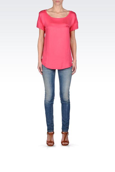 VINTAGE EFFECT SKINNY JEANS : Jeans Women by Armani - 1