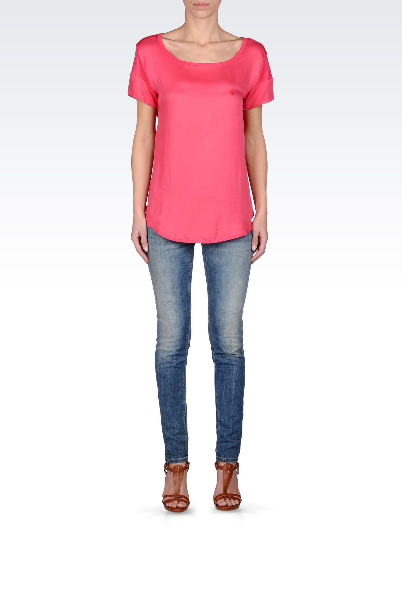 VINTAGE EFFECT SKINNY JEANS : Jeans Women by Armani - 0