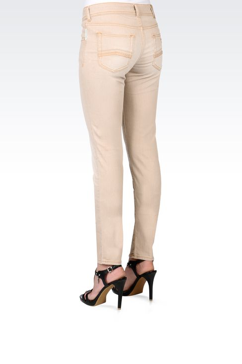 USED EFFECT SLIM FIT JEANS: Jeans Women by Armani - 3