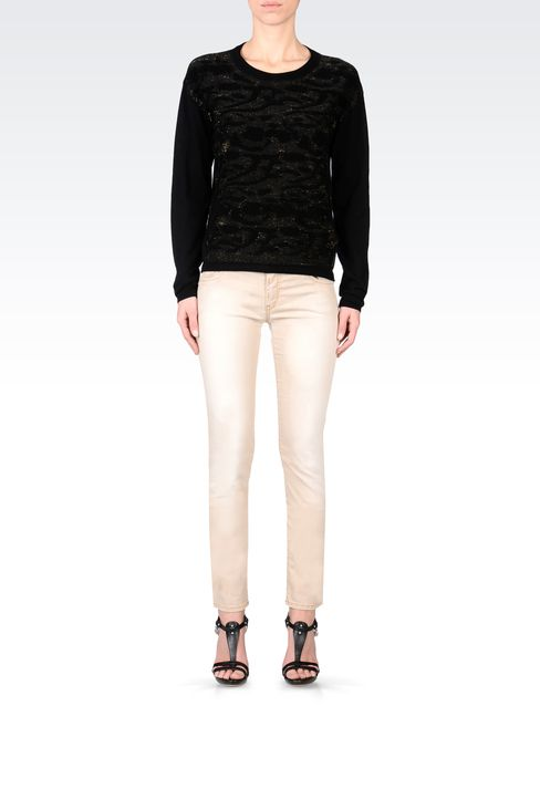 USED EFFECT SLIM FIT JEANS: Jeans Women by Armani - 1