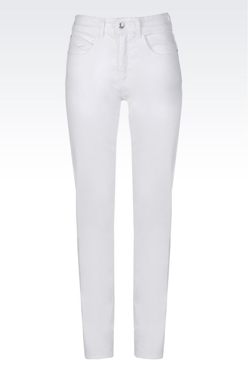 SLIM FIT STRETCH COTTON JEANS: Jeans Women by Armani - 1