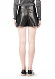 ALEXANDER WANG BLOOMER PLEATED LEATHER SHORTS SHORTS Adult 8_n_a