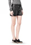 ALEXANDER WANG BLOOMER PLEATED LEATHER SHORTS SHORTS Adult 8_n_e