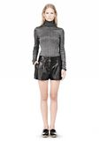 ALEXANDER WANG BLOOMER PLEATED LEATHER SHORTS SHORTS Adult 8_n_f