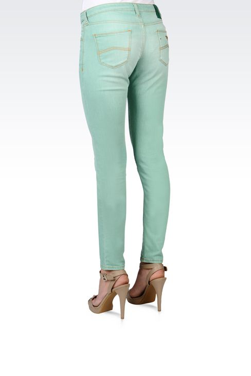 USED EFFECT SKINNY JEANS: Jeans Women by Armani - 3