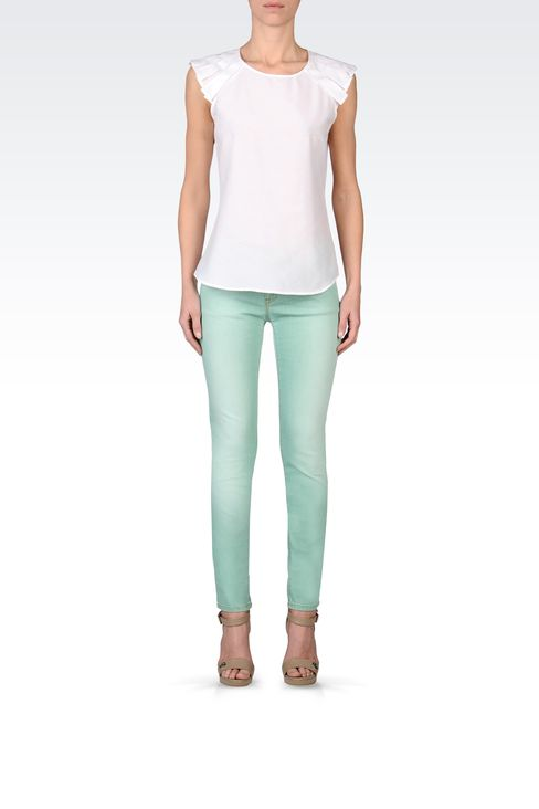 USED EFFECT SKINNY JEANS: Jeans Women by Armani - 1