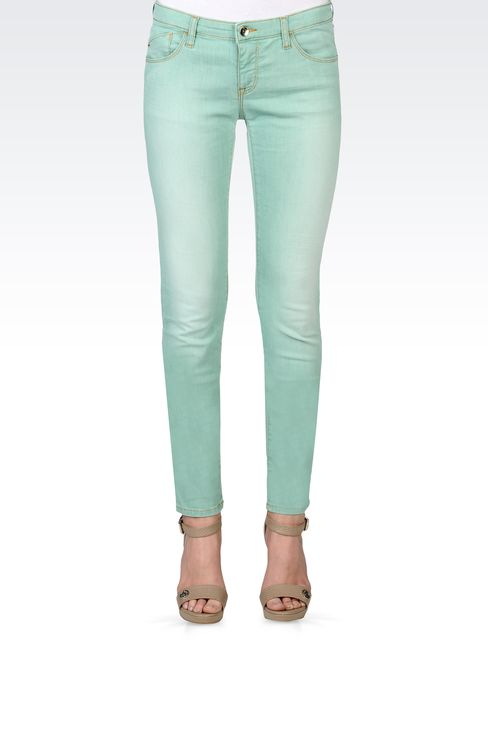 USED EFFECT SKINNY JEANS: Jeans Women by Armani - 2