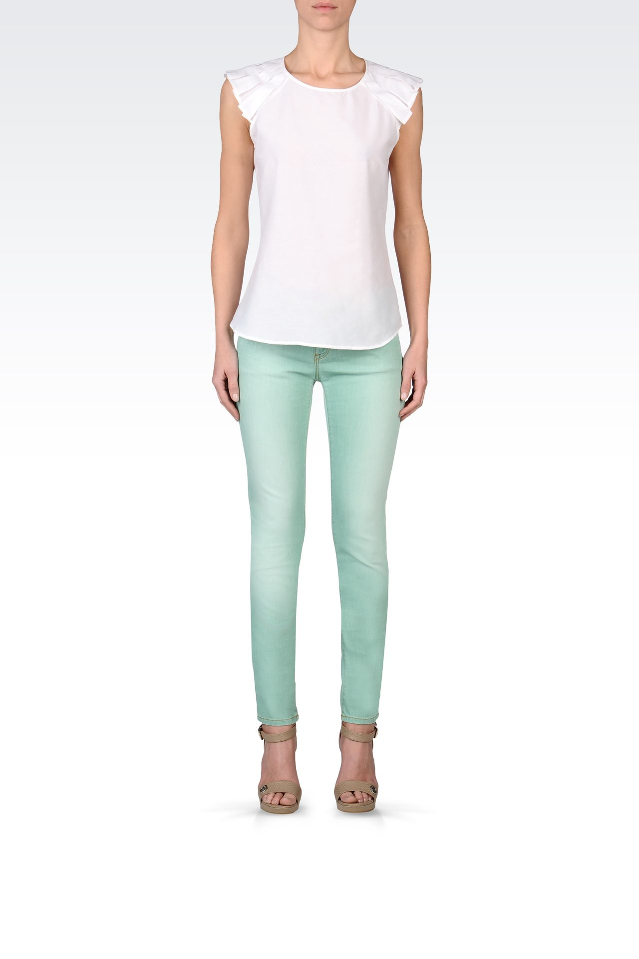 USED EFFECT SKINNY JEANS: Jeans Women by Armani - 0