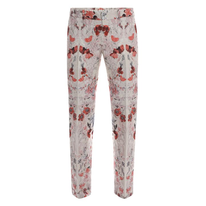 Alexander McQueen, Floral Filcoupe Jacquard Cropped Trousers