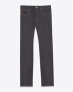 ORIGINAL LOW WAISTED Slim JEAN IN Raw Navy Blue Stretch Denim