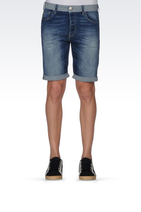 Armani Jeans Men VINTAGE WASH DENIM BERMUDA SHORTS, - Armani.com