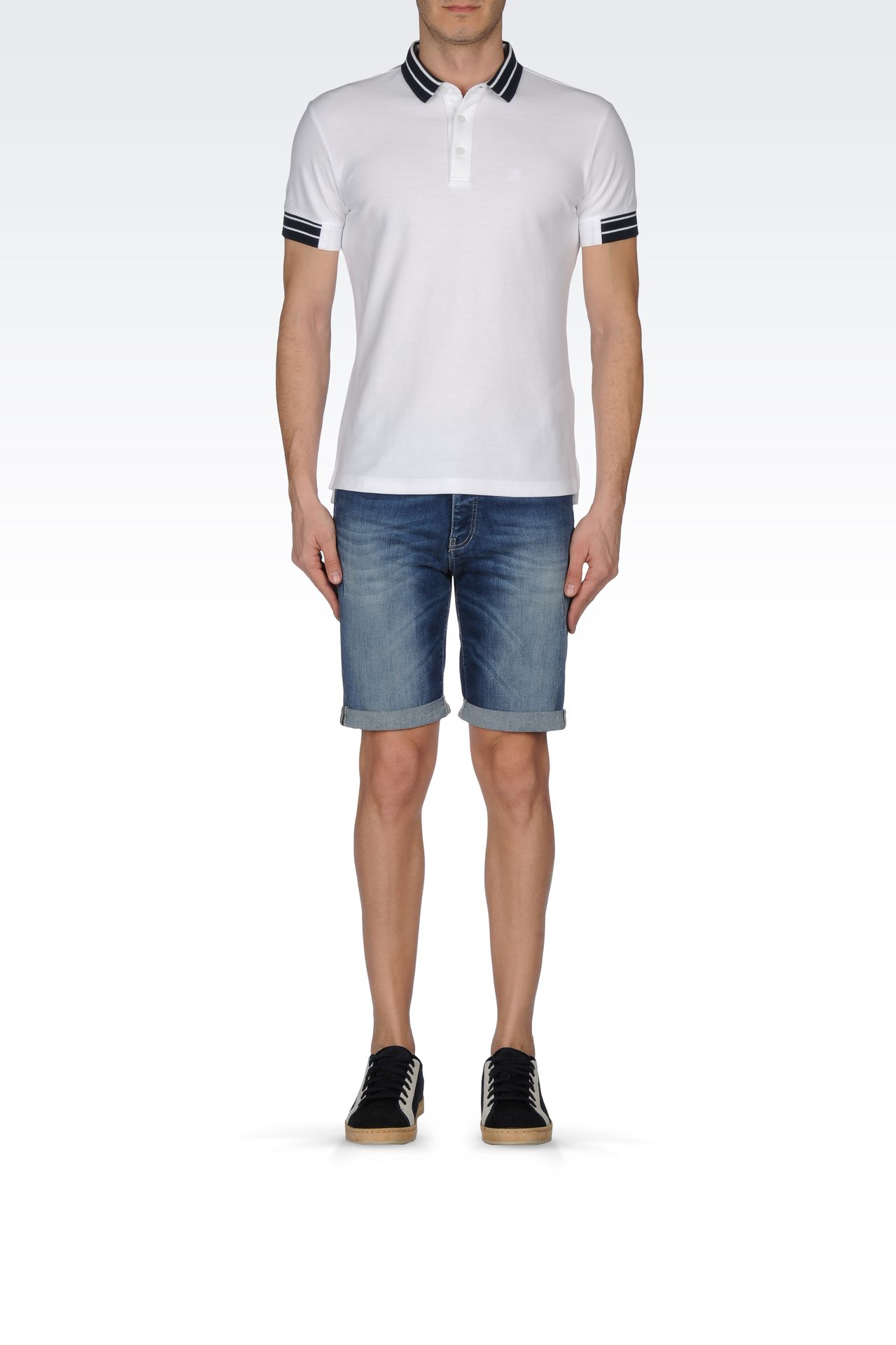 Armani Jeans Men VINTAGE WASH DENIM BERMUDA SHORTS - Armani.com