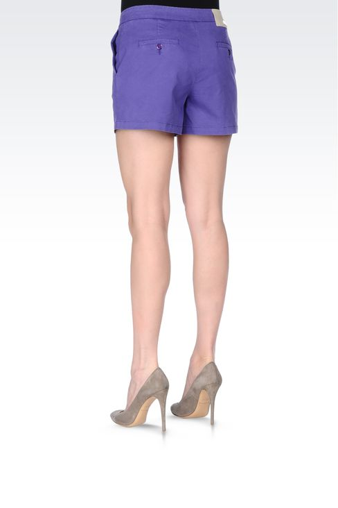 BERMUDA SHORTS IN COTTON BLEND: Bermuda shorts Women by Armani - 3
