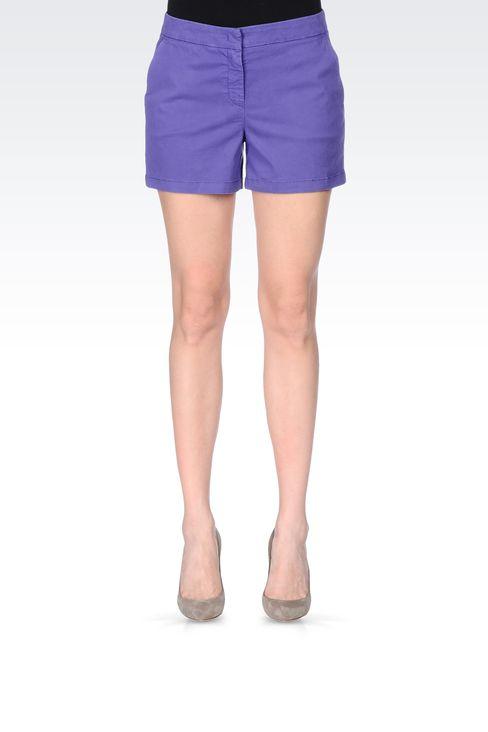 BERMUDA SHORTS IN COTTON BLEND: Bermuda shorts Women by Armani - 2